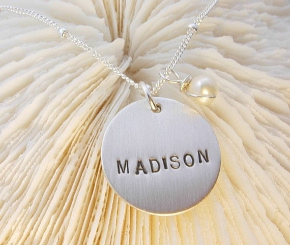Hand Stamped SINGLE NAME Personalized Necklace