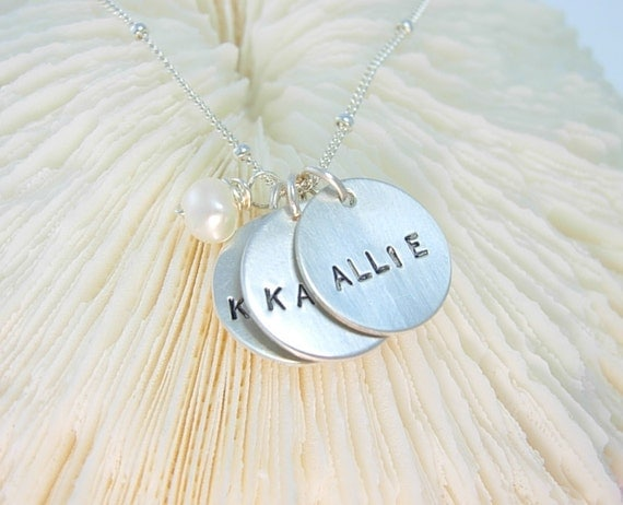 Mother Name Charm Necklace
