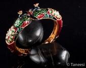 Vintage PEACOCK Play Bangle Bracelet, LAST piece left Taneesi Jewelry