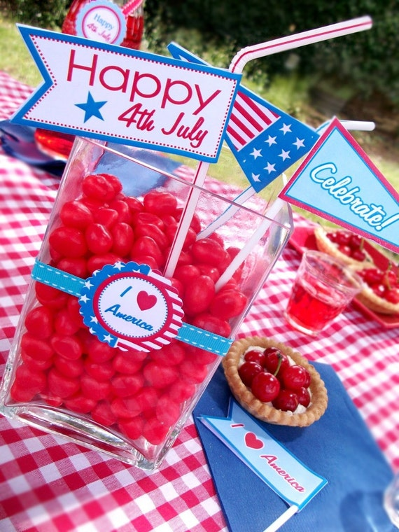 4th july independence day party collection printable for 4th of july party decoration