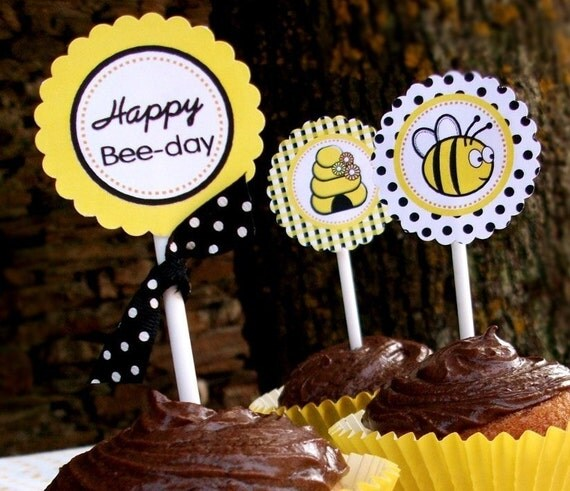 Honey Bee Printable Party Supplies and Fill-In Party Invite - Honey  Bee Party Collection