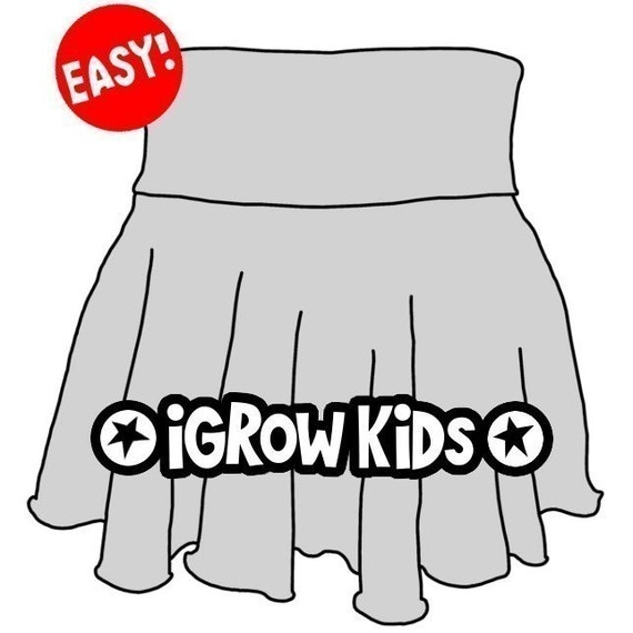 Size 2 to 4 years. Beginner 1 hour project. Easy Sewing - Girl's Ballet Skirt ePattern - How to make the iGrow Skirt PDF