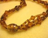 Copper Colored Glass Necklace