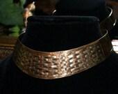 Striking Modern Egyptian Style Collar Necklace