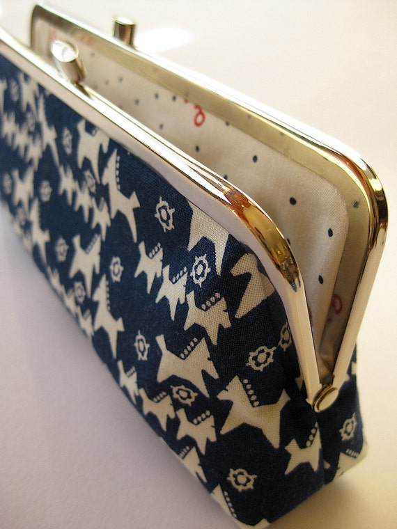 Last One - Eyeglass case or pencil make up bag with mini Horses Bag Noir Back to School Handmade in Ireland