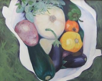 Harvest Tote, Farmer's Market Fresh, Culinary Art