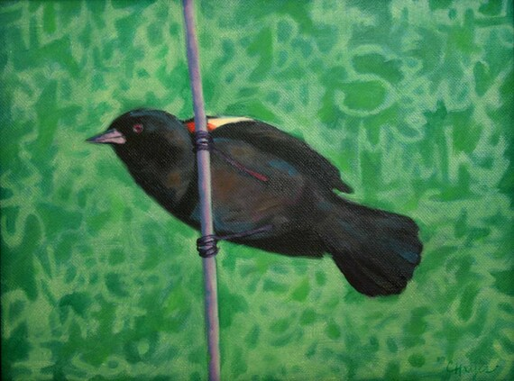 Great Song, Red-winged Blackbird, Poetic Texture, Marsh Serenade