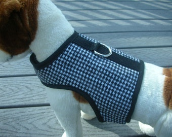 Classic Houndtooth Small Dog Harness Made in USA