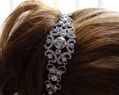 Bridal Headband, Rhinestone Headband, Victorian Wedding Headband, Bridesmaids Headband, Rhinestone 5.25in #H12-SP1