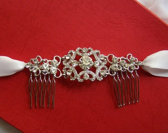 Bridal Headband with Comb -- Rhinestone Crystal Bride/Bridesmaid/Wedding/Party (H15)