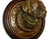 ART NOUVEAU style Labrador DOG Leash Holder Sculpture