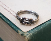 love knot ring / vintage silver square knot / size 6.50 / NAUTICAL KNOT RING