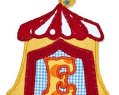 CIRCUS CARNIVAL TENT monogram FoNt (Boutique Machine applique design)