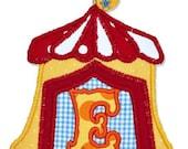 CIRCUS CARNIVAL TENT monogram FoNt (Boutique Machine applique design)