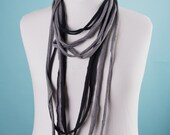 Grey to Black-Scarf\/Necklace
