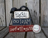 Baseball, Go Team, Swing, Hit, Safe . . . great gift set/addition to your child's room