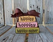 Easter Wood Block Mini Stacker spring holiday seasonal home decor easter egg bunny gift personalized family