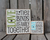 Primitive love family home wood sign family wedding birthday christmas mothers day love gift.  Customize CoLoRs