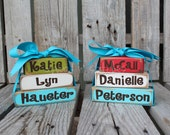 Personalized Mini Stacker wood block gift graduation name kids baby room home decor
