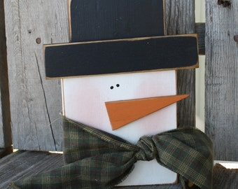 Primitive Snowman winter christmas seasonal snowman snowmen gift home decor