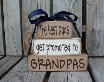 Fathers Day Dad Grandpa Grandma Nana Mom Father Papa Stacker wood blocks personalized gift fathers day home decor.