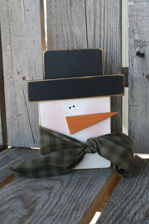 Primitive Snowman winter christmas seasonal snowman snowmen gift home decor
