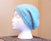 Robin Egg (ish) Slouchy Knit Hat