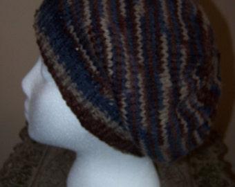 Mountain Print Slouchy Hat