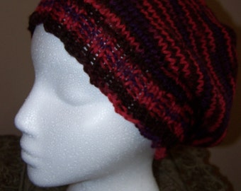 Red Varigated Slouchy Hat