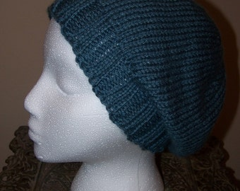 Blue For You Knit Slouchy Hat
