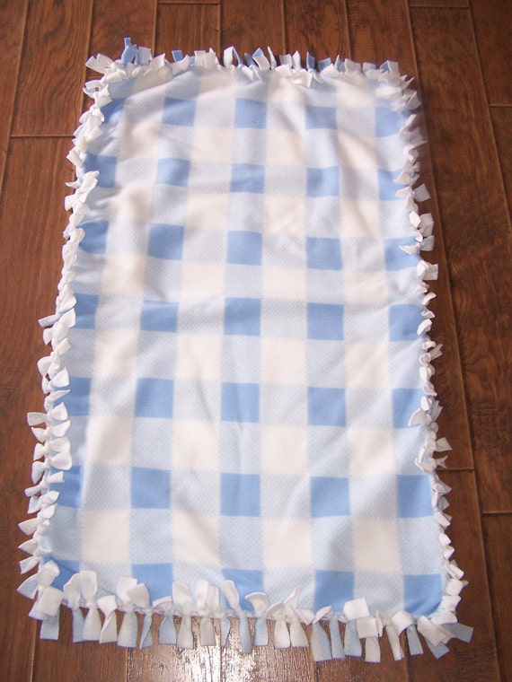 Baby Blue No Sew Fleece Blanket
