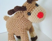 Amigurumi Pattern Rudi, the reindeer Christmas