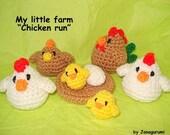 Amigurumi Chickenrun PDF crochet pattern