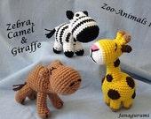 Amigurumi Zoo Animals 1 PDF Pattern