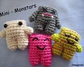 Mini Monstars Amigurumi Crochet PDF Pattern