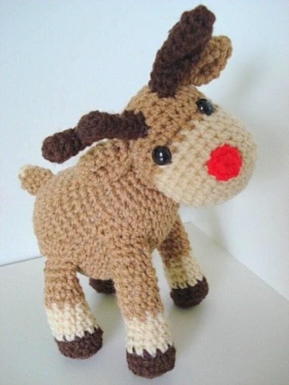 Amigurumi Pattern Rudi, the reindeer Christmas