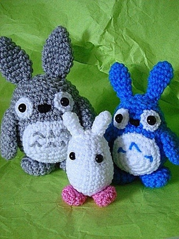 Amigurumi Totoro Anleitung : Amigurumi Totoro-Trio PDF-Hakelanleitung von Janagurumi ...