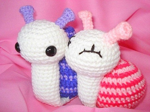Amigurumi Snails in love PDF crochet pattern