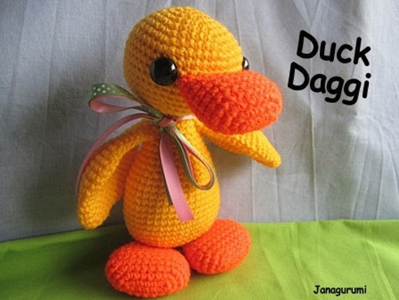 Amigurumi Duckling : Items similar to Duck Daggi Amigurumi Crochet PDF Pattern ...