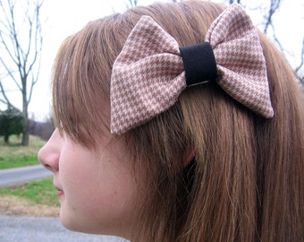 Happy Houndstooth Barrette