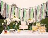 6.5ft Fabric Party Garland: Seafoam