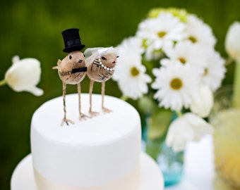 Love Bird 'Bride and Groom' Cake Toppers