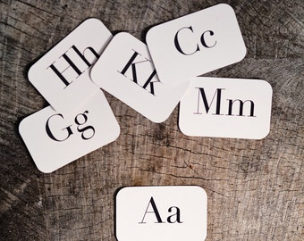 Rectangle Letter Place Cards (A-M)