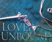 Black Dagger Brotherhood Inspired Sterling Silver Dagger Necklace