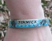 Hunger Games Inspired - Finnick - Hand Painted Bracelet