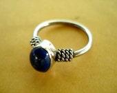 Vintage Lapis Lazuli Sterling Silver Ring