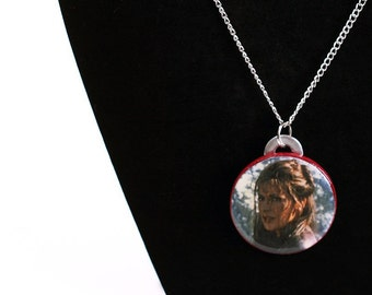 Star Trek Necklace Deanna Troi Upcycled Insurrection Calendar in Silver - Trekkie Necklace, Next Generation Necklace, CLEARANCE 75% OFF
