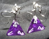 sword-in-stone D4 earrings purple