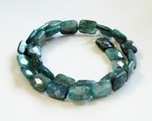 Natural Faceted Green Kyanite Rectangle  Shaped Beads AA 8 Inch  Strand/This Is Not A Necklace