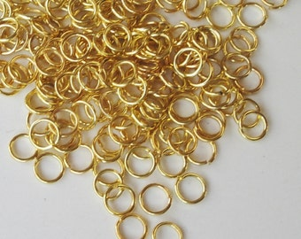 Gold Jumprings - Gold Plated Jump Rings - Gold Open Wire Circle Link - Nickel Free - 6mm - 1 Oz, 200 PCS - 19 Gauge - Metal Jewelry Findings